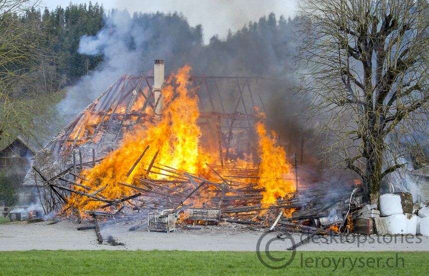 Bauernhaus in Heimisbach brennt nieder
